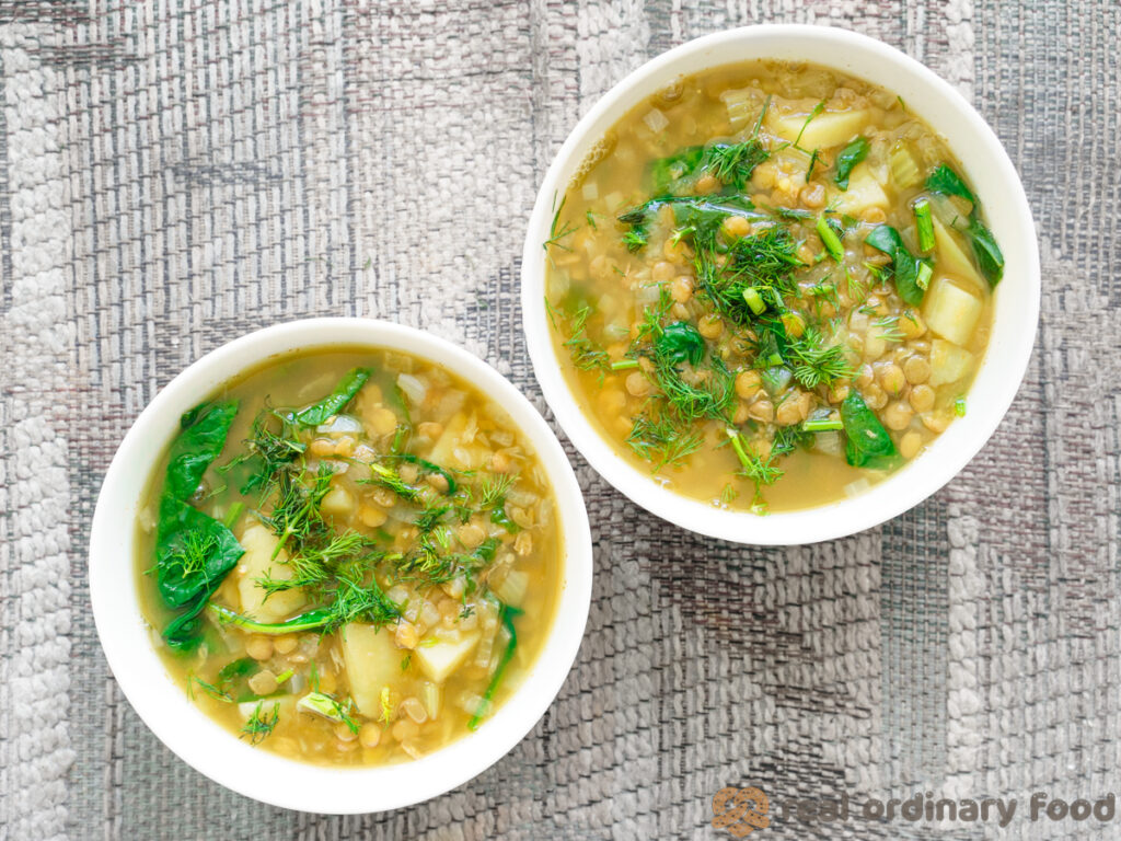 vegan instant pot lentil soup