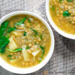 vegan green lentil soup