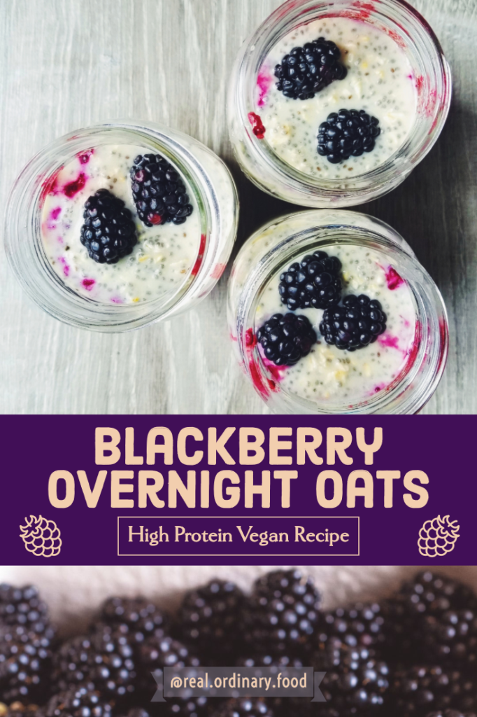 blackberry protein overnight oats pinterest