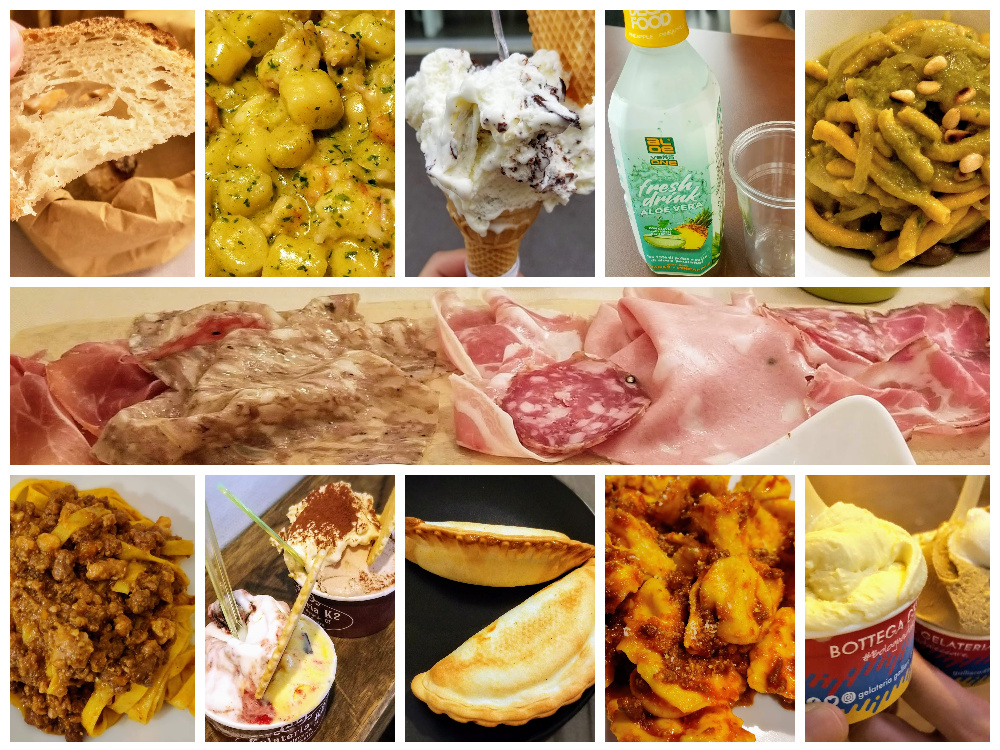 travel food diary for aug 22 – aug 24 2019 emilia romagna bologna north italy