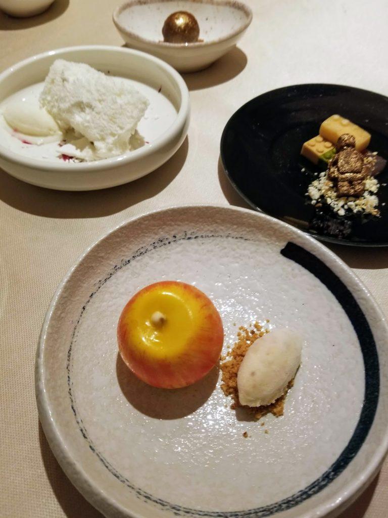 four dessert courses at contraste milano