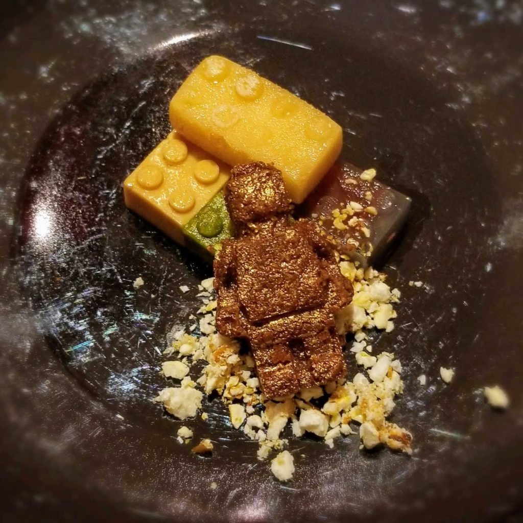 lego cookie dessert at contraste milano