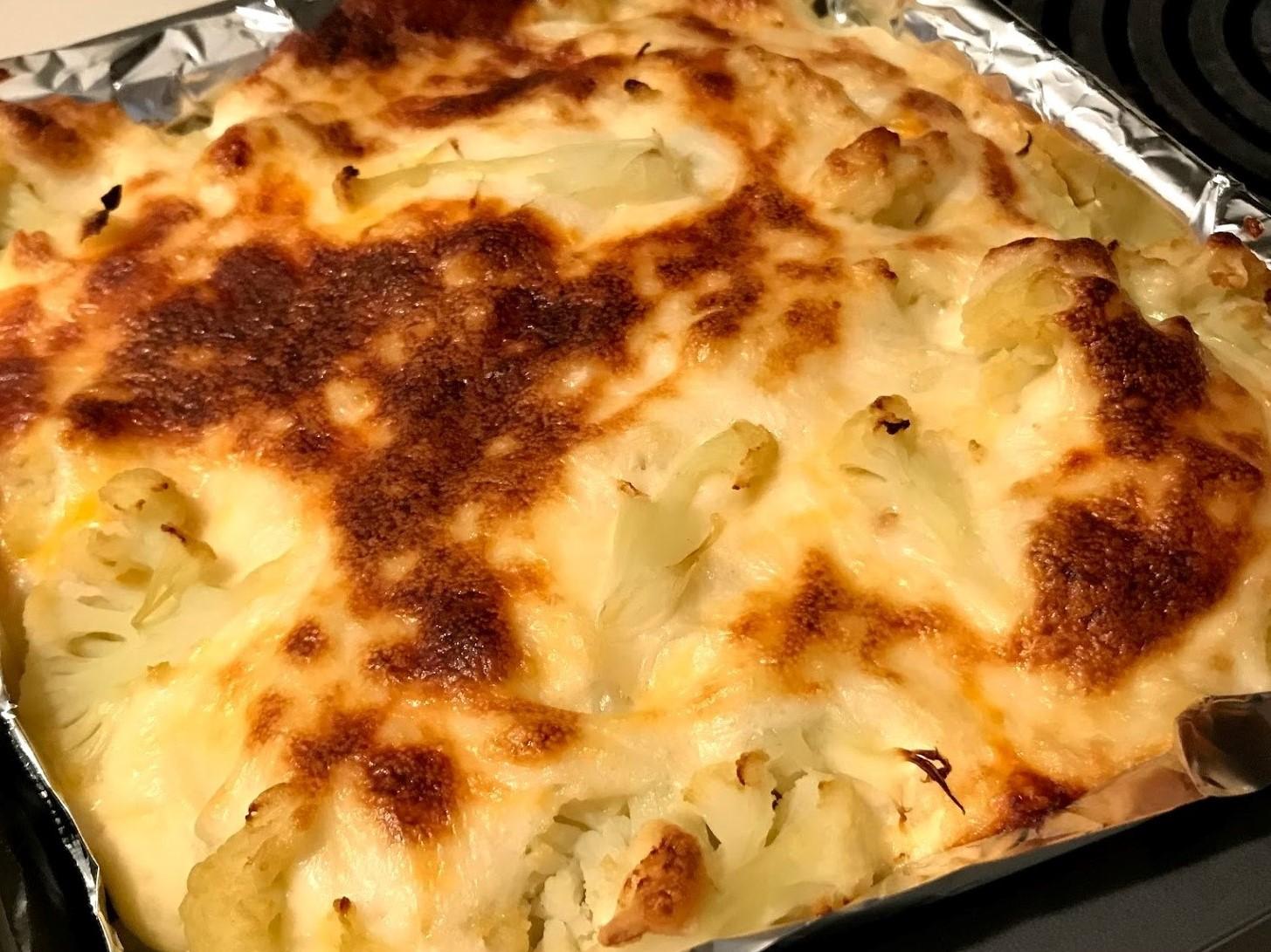 creamy cauliflower cheese bake recipe