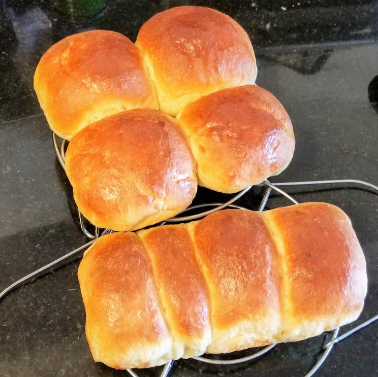 homemade hokkaido milk bread buns and loaf