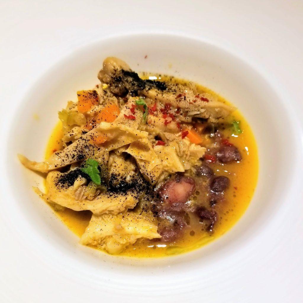 tripe and bean stew at il ridotto venice michelin star restaurant