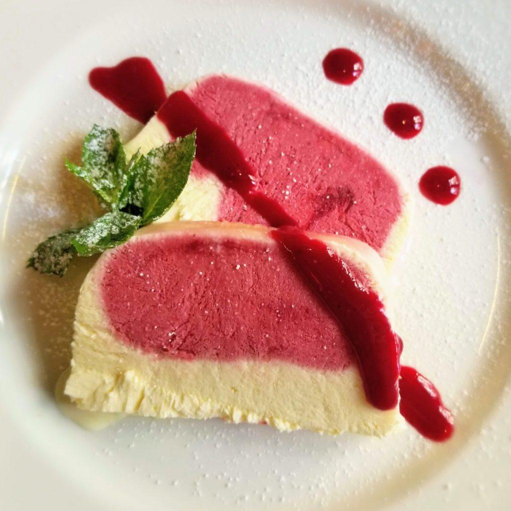 la zucca venice raspberry semifreddo