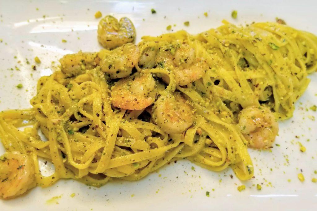 osteria al duomo murano pistachio shrimp tagliolini