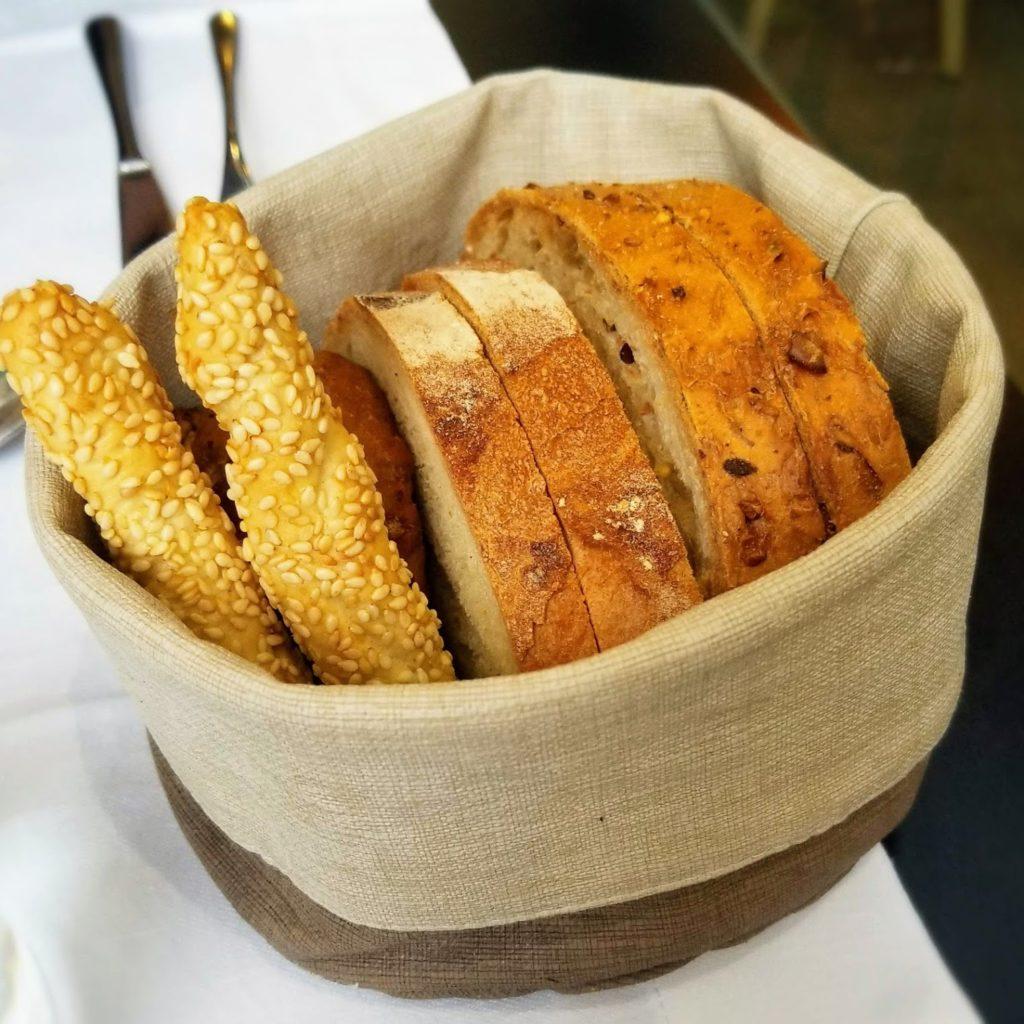 bread basket at osteria brunello milano