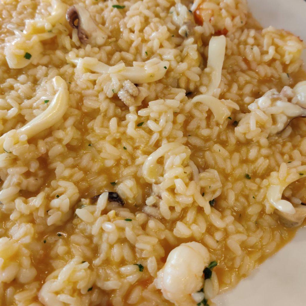 osteria di brera risotto shrimp mollusc