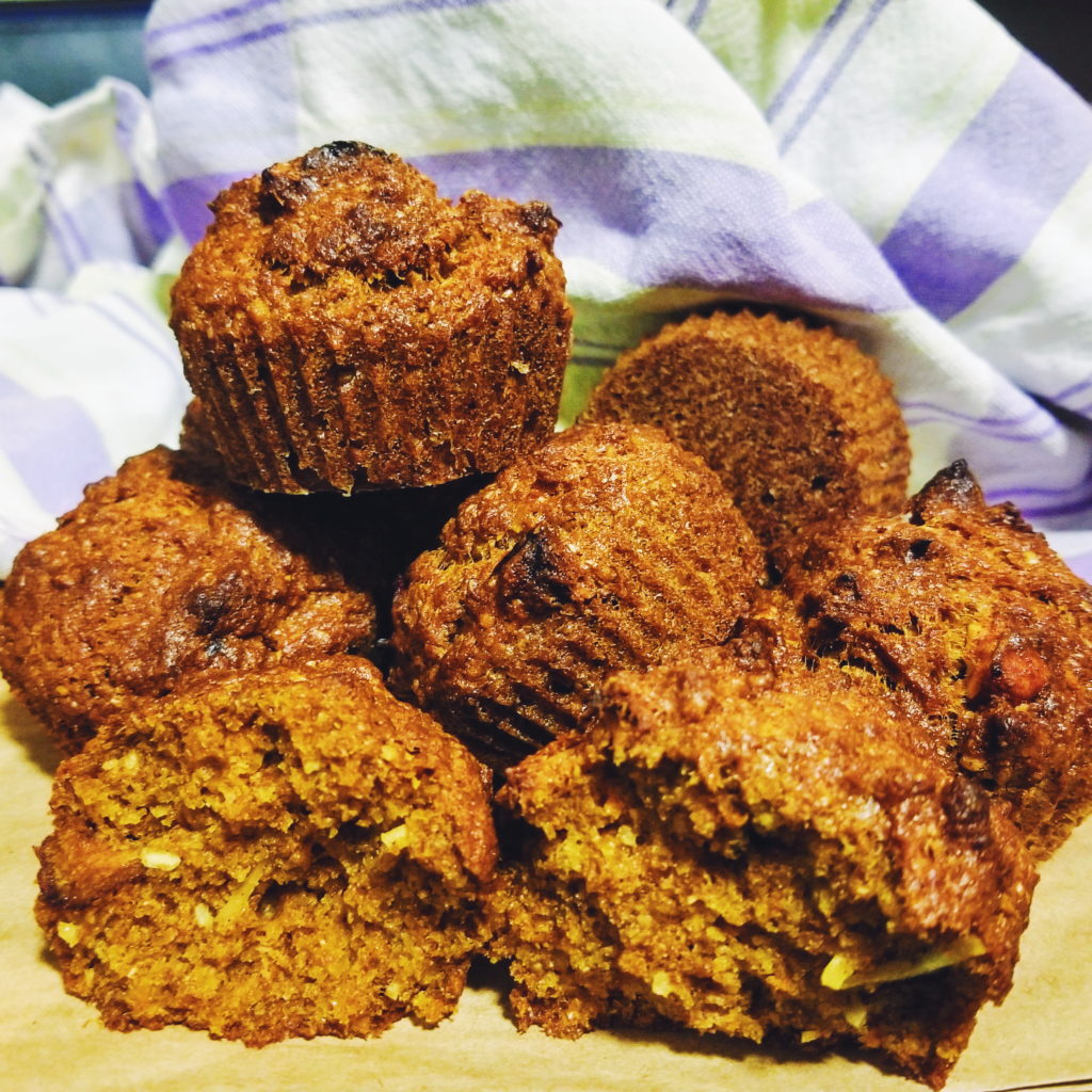 healthier morning glory muffins after baking