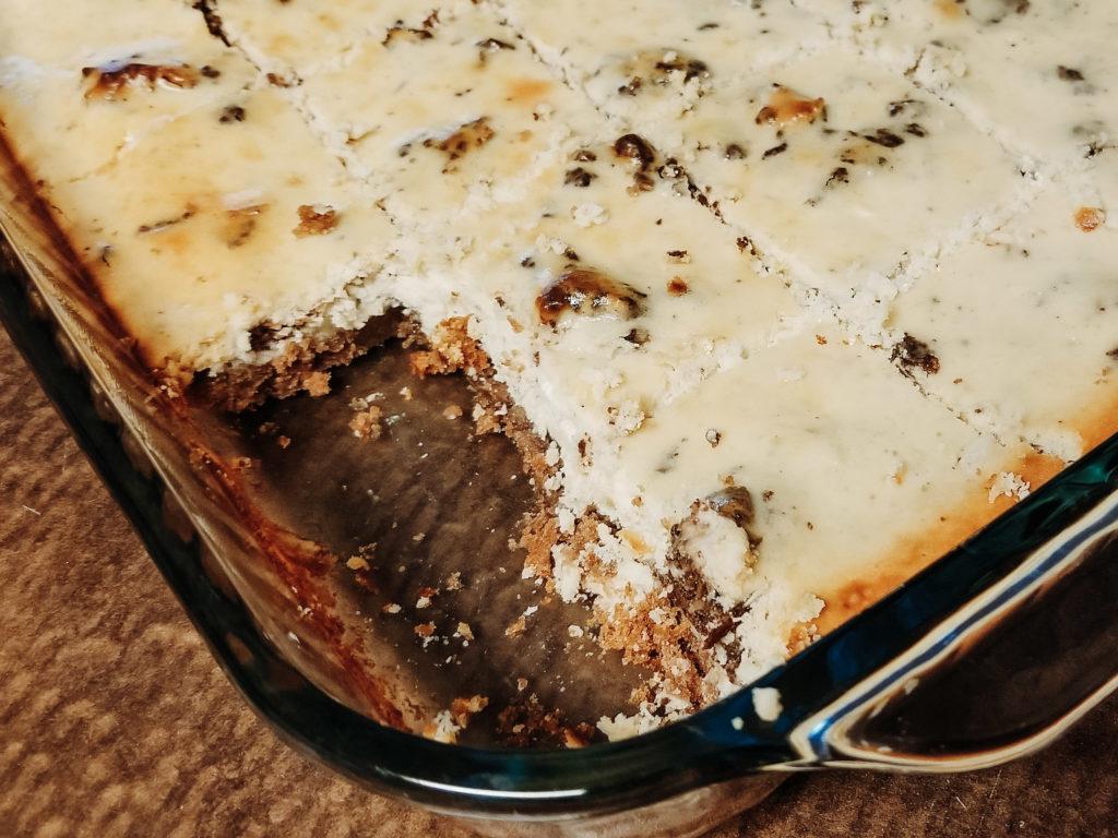 chocolate brownie chunk cheesecake (baked)