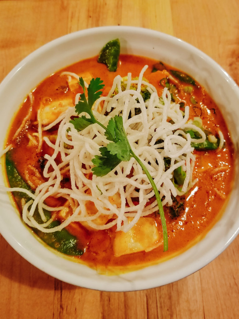 vegan khao soi from sabai sabai toronto