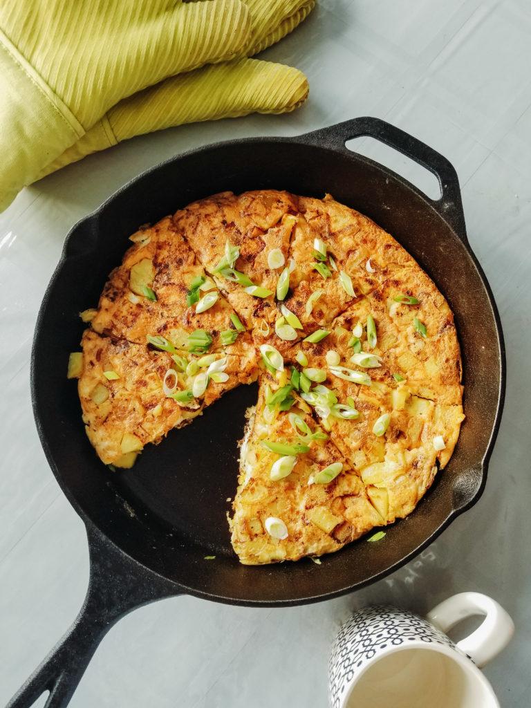 spanish tortilla (potato and onion omelette)