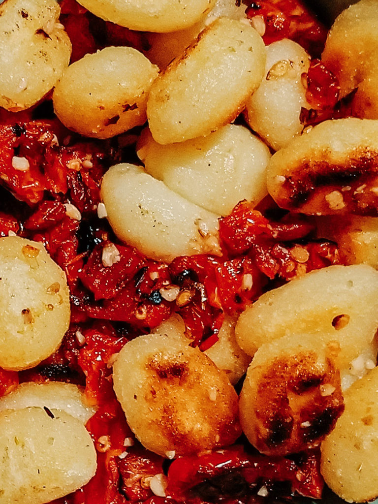 gnocchi and sun-dried tomatoes
