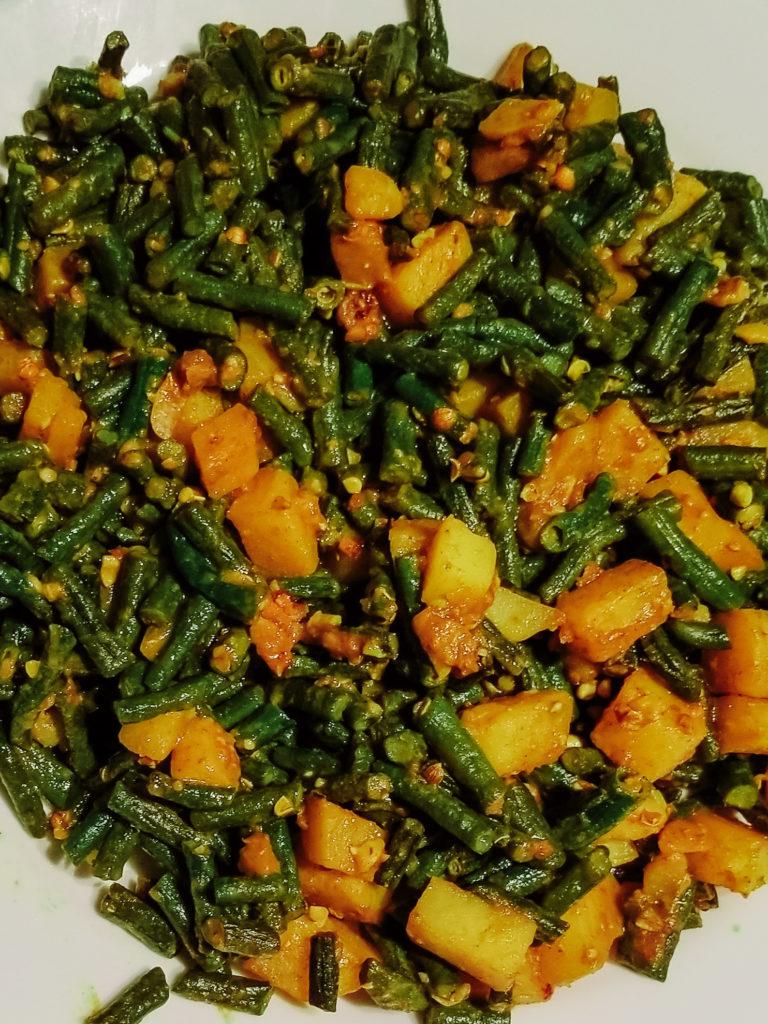 indian green bean potato curry