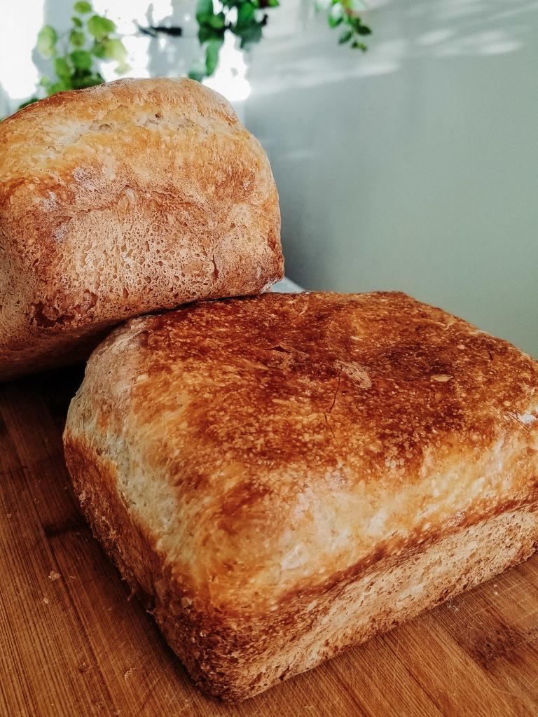 king arthur flour's roasted apple bread loaves