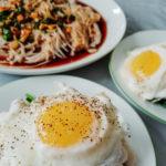 enoki soy sauce mushrooms and haddock florentine
