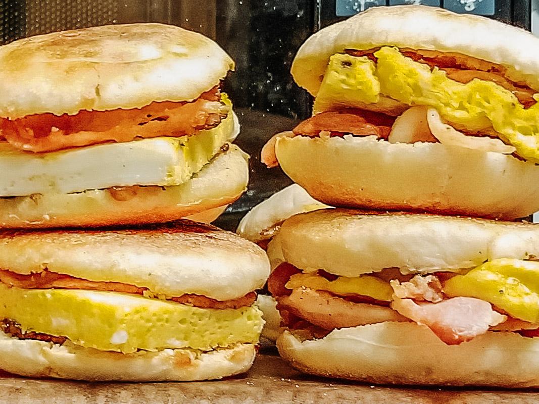 Healthy Breakfast Sandwich Meal Prep