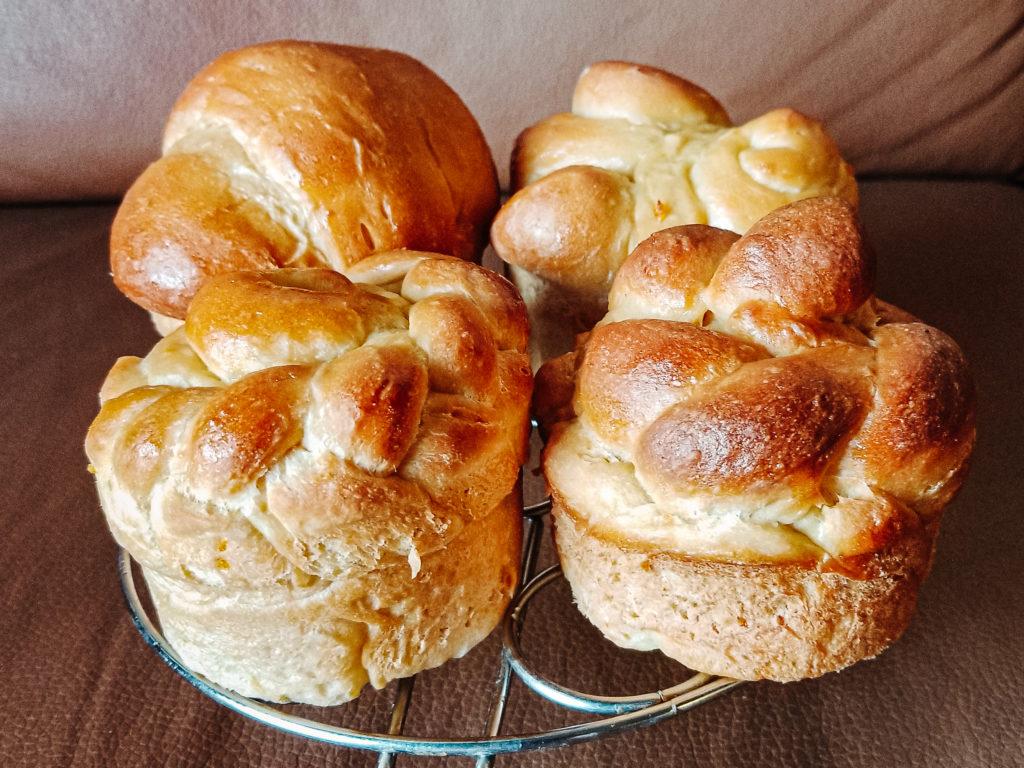 baked paska easter bread
