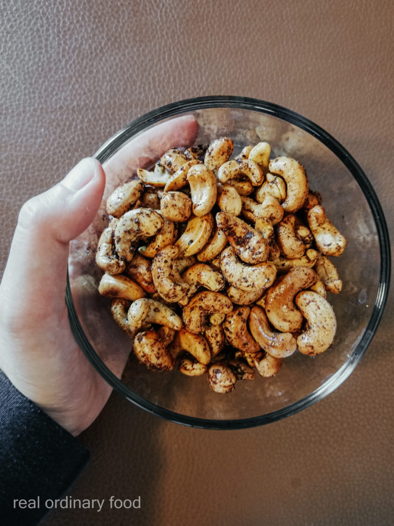 homemade roast cashews without oil