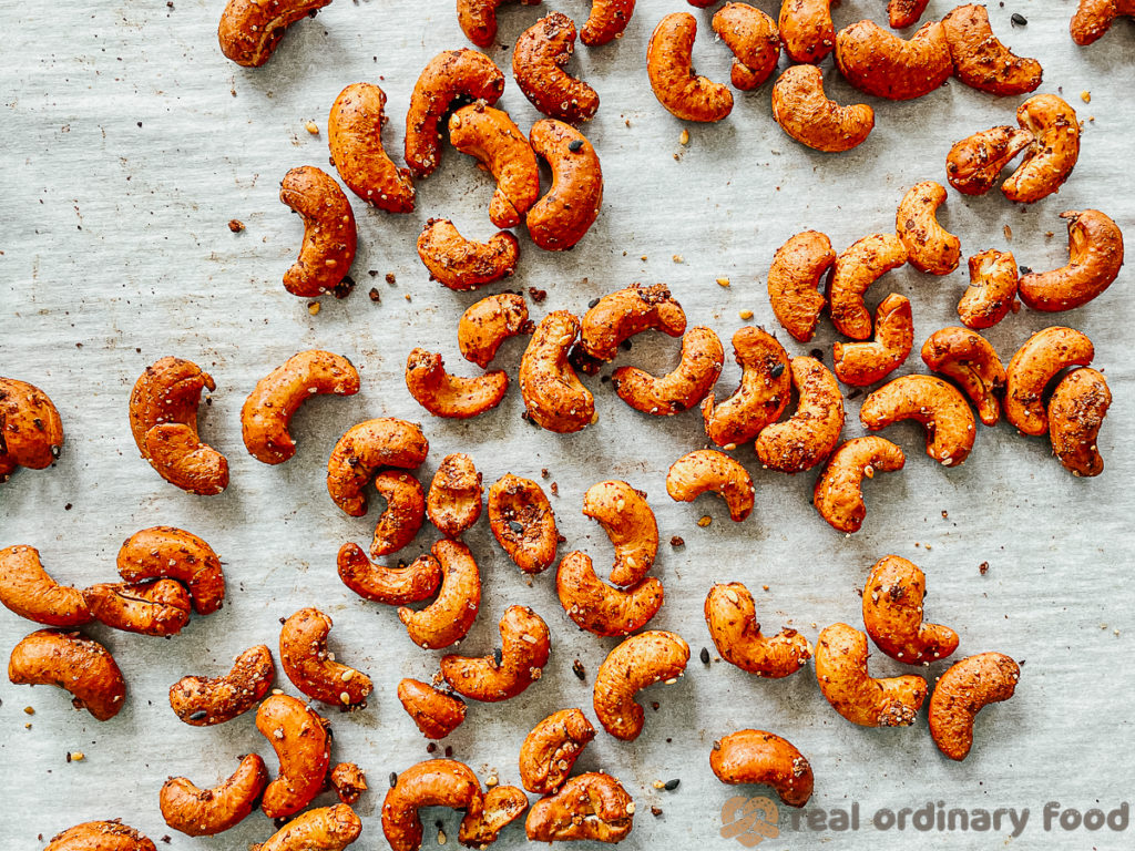 oil-free oven roasted cashews