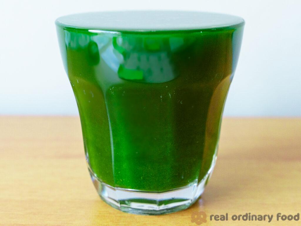 homemade pandan juice