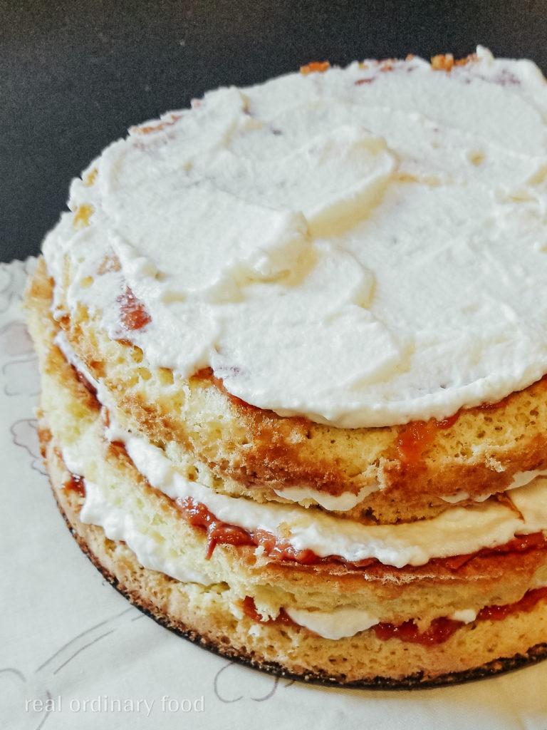 homemade peach zefir cake