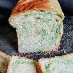 vegan pandan bread loaf