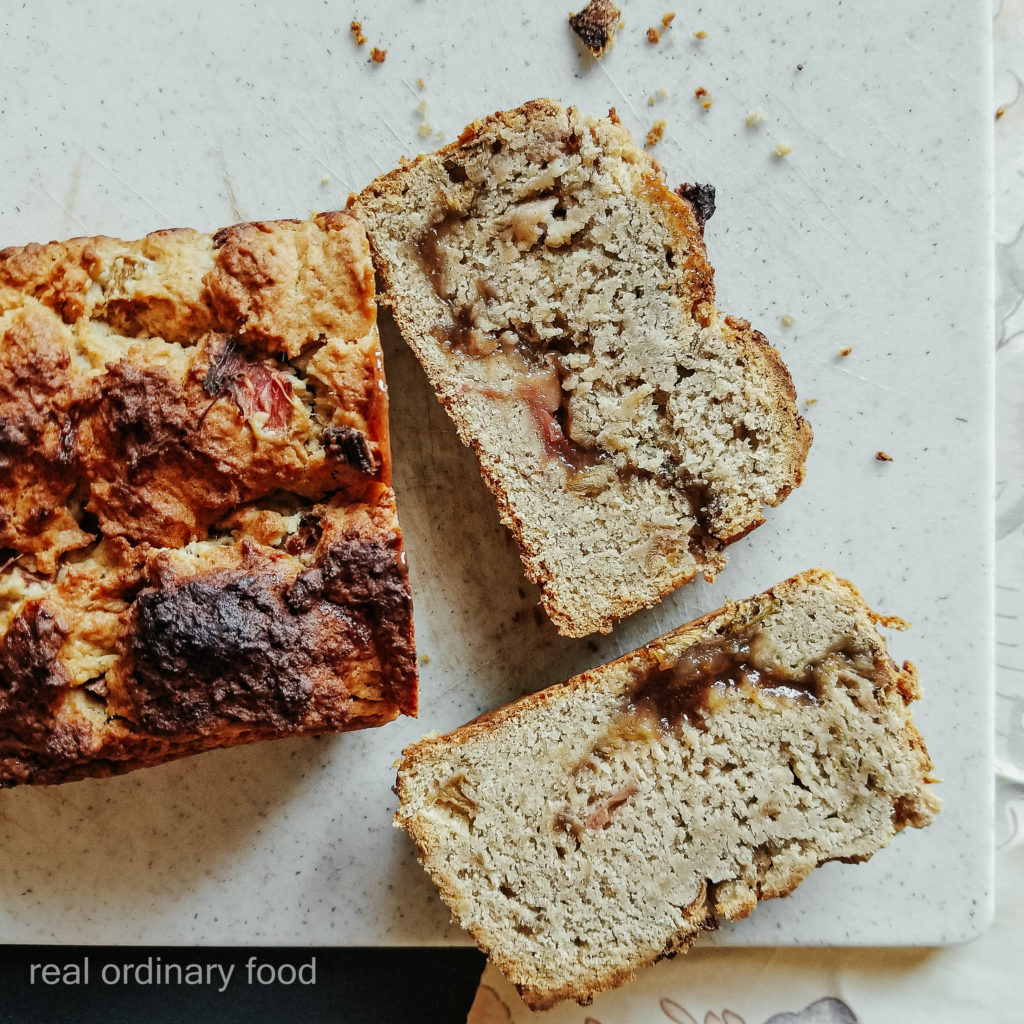 double rhubarb dream loaf