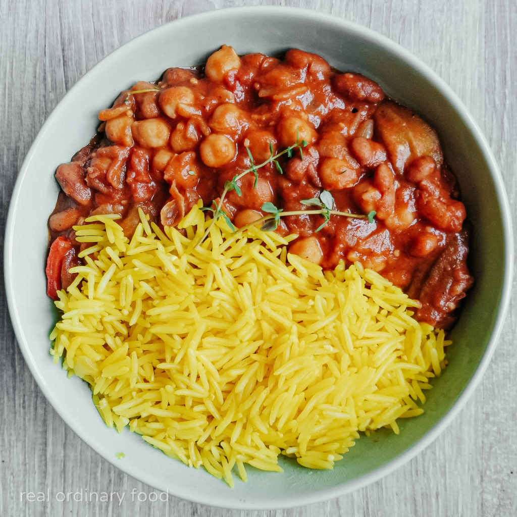 isa chandra's vegan okra gumbo over yellow rice
