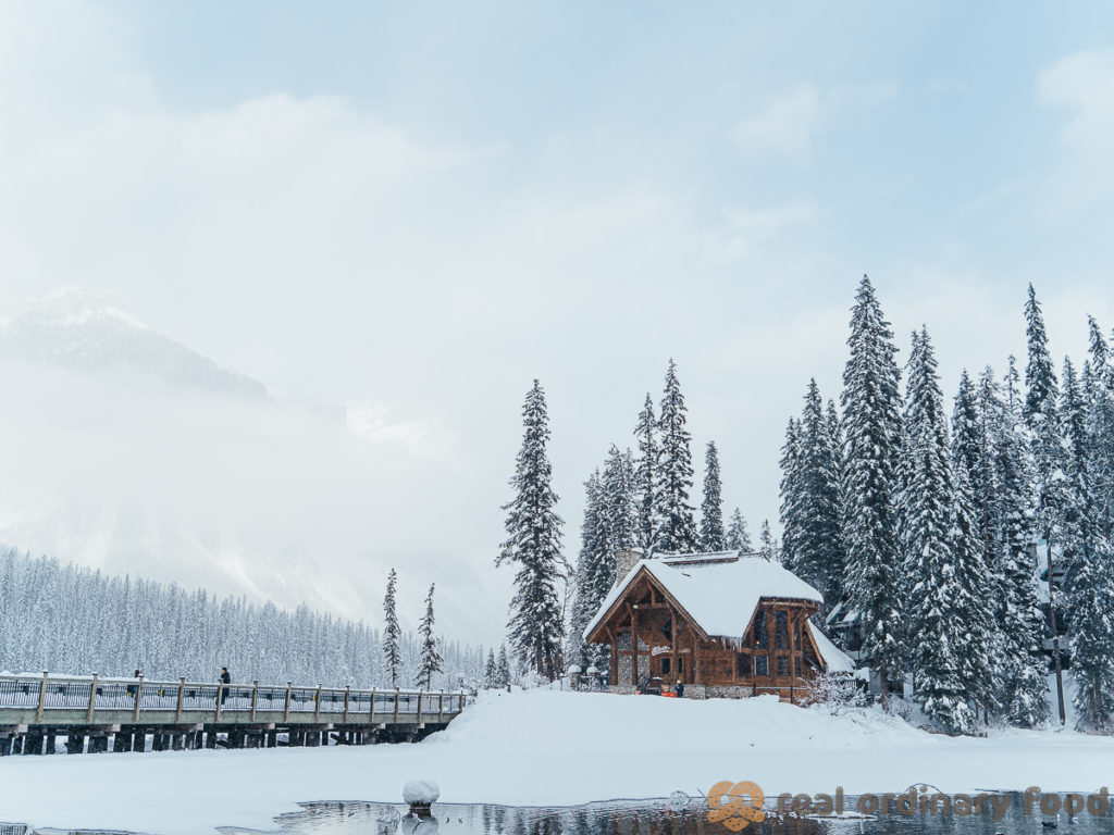 emerald lake, british columbia in the winter