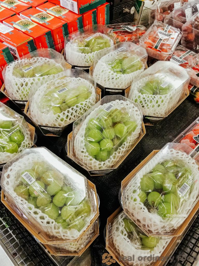 korean shine muscat grapes at calgary t&t supermarket
