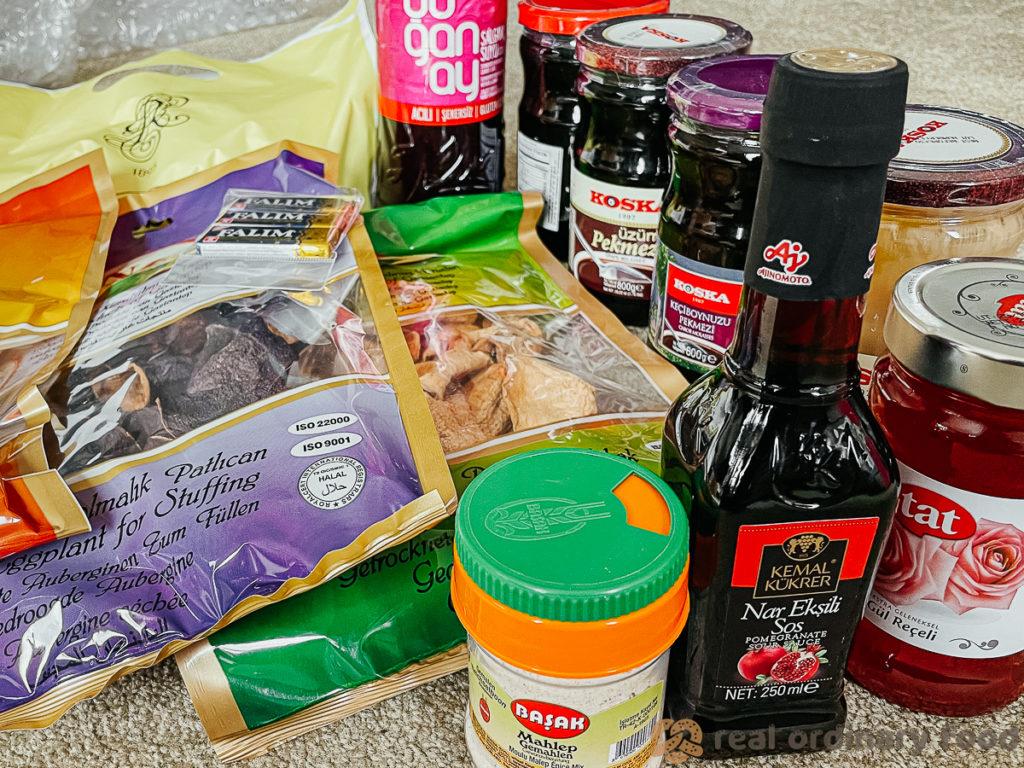 ingredients ordered online from turkish bazaar