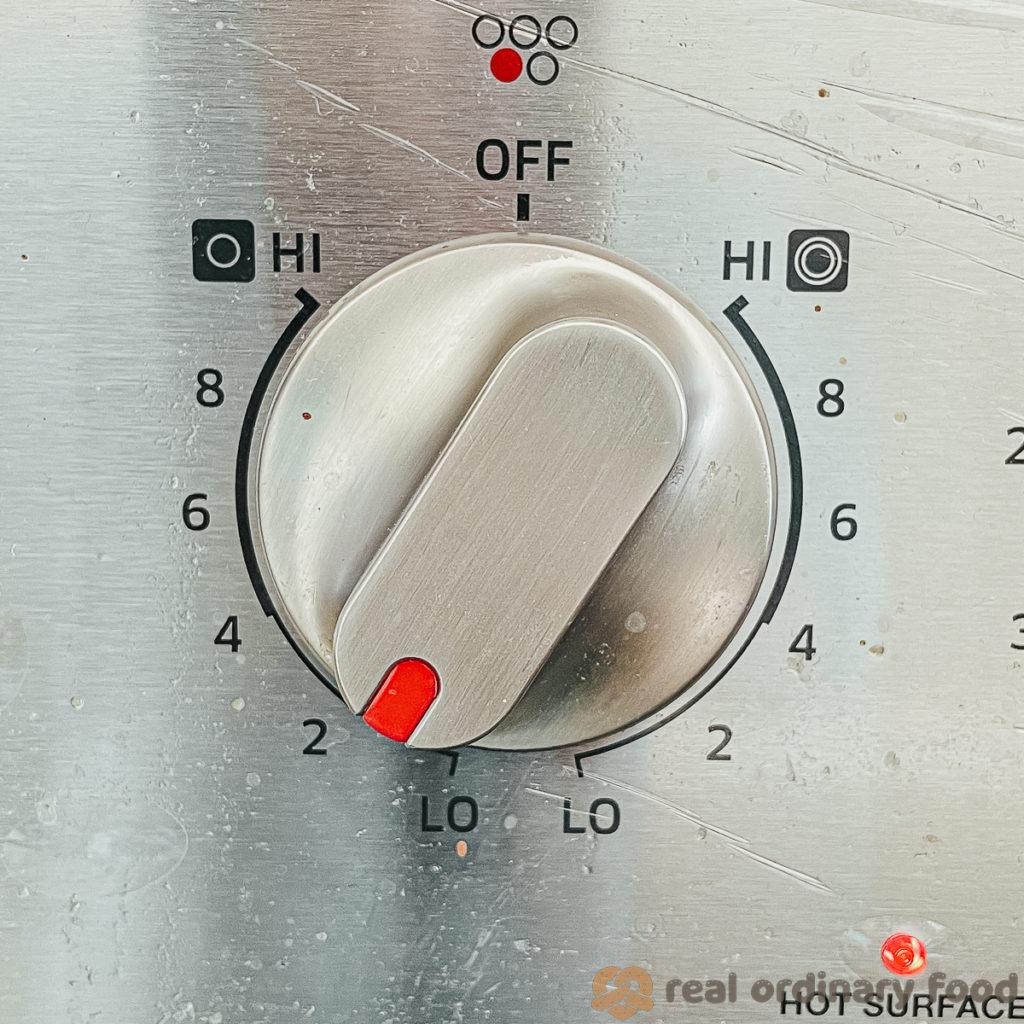 stove on low heat