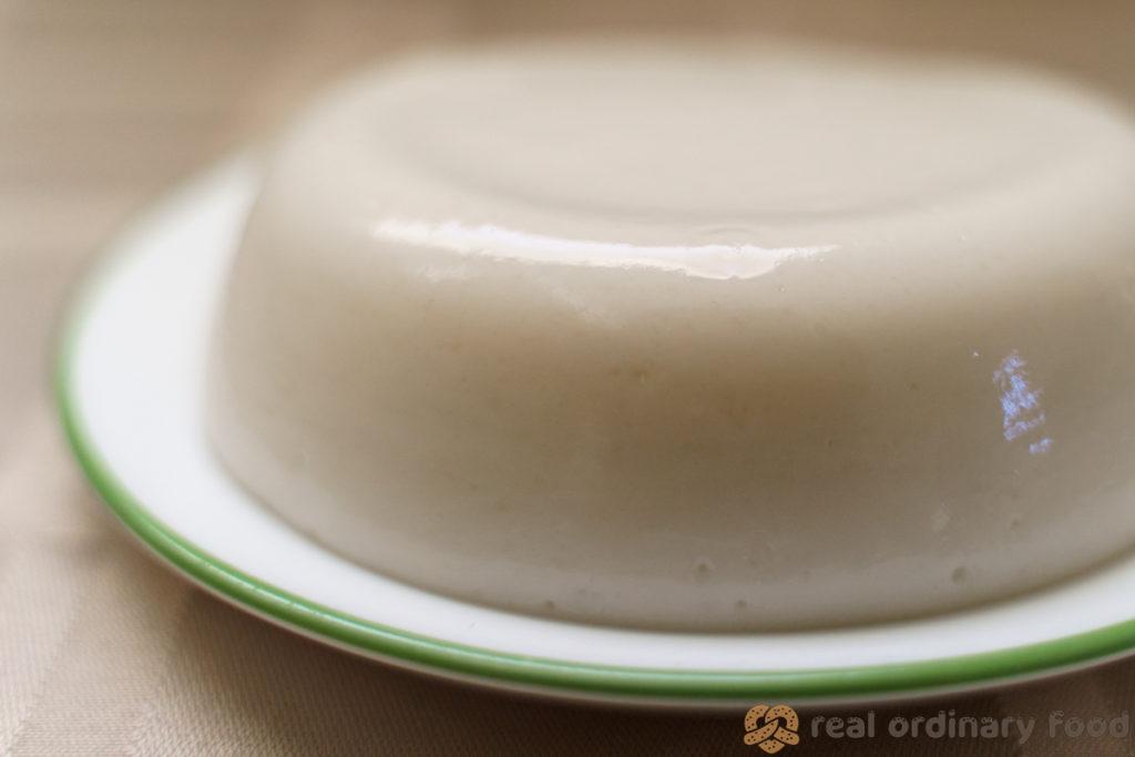 freshly unmolded mahalabia rice pudding