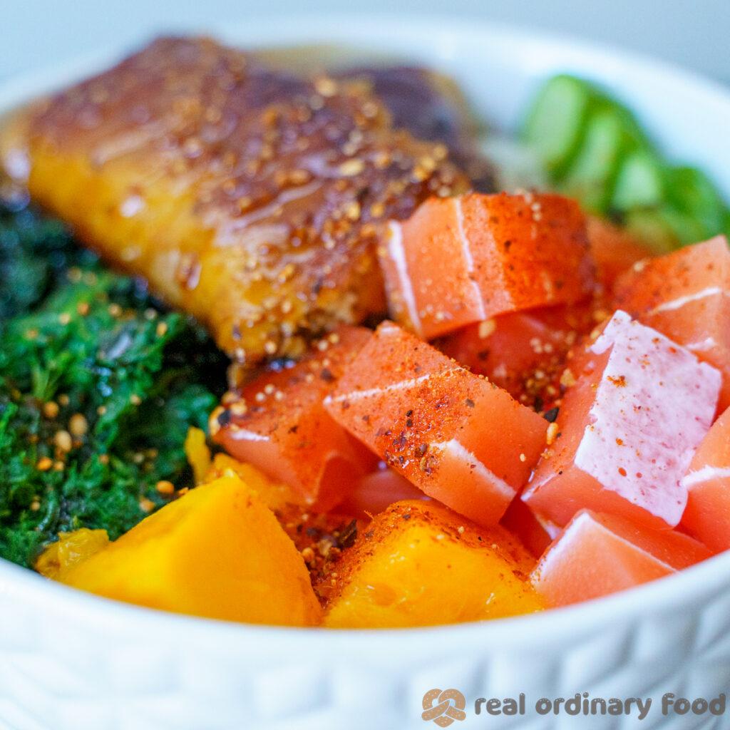 vegan sashimi poke bowl