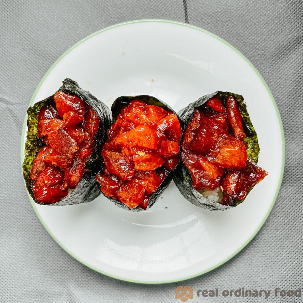 watermelon gunkan maki sushi