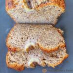 slices of vegan rye flour banana bread
