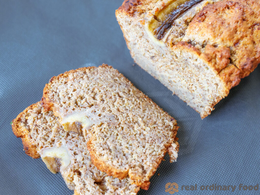 rye flour vegan banana loaf