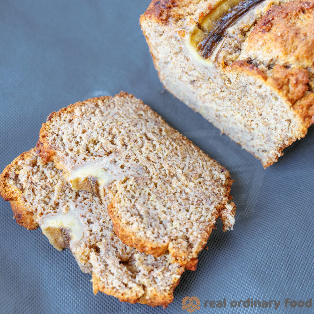 rye flour vegan banana bread