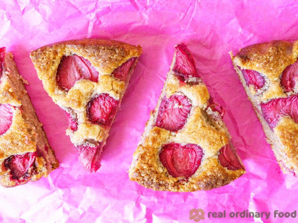 vegan strawberry yogurt cake